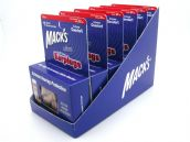 Mack's Ultra Foam Earplugs 10 Pair Pack with FREE travel case 6 packs in 1 Merchandising Tray